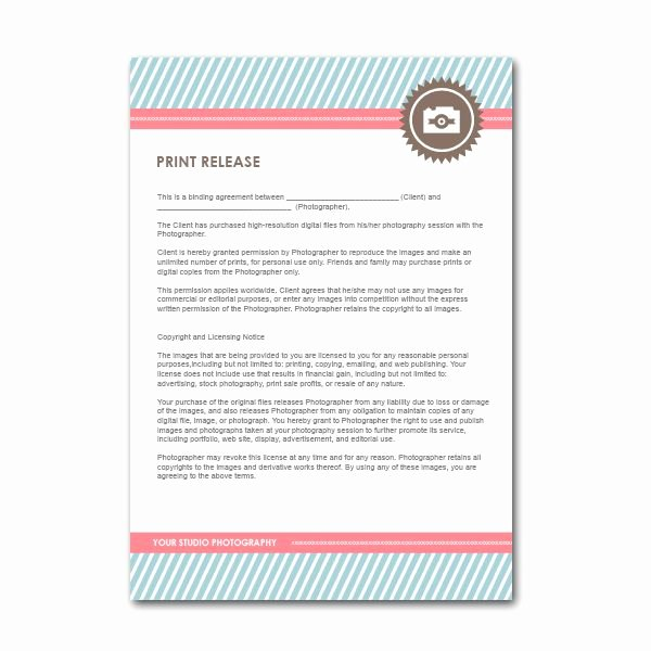 Photo Print Release form Template Luxury Squijoo Hot Shop Templates for Graphers