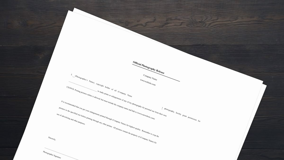 Photo Release form Template Free Elegant Download Free Release form Template