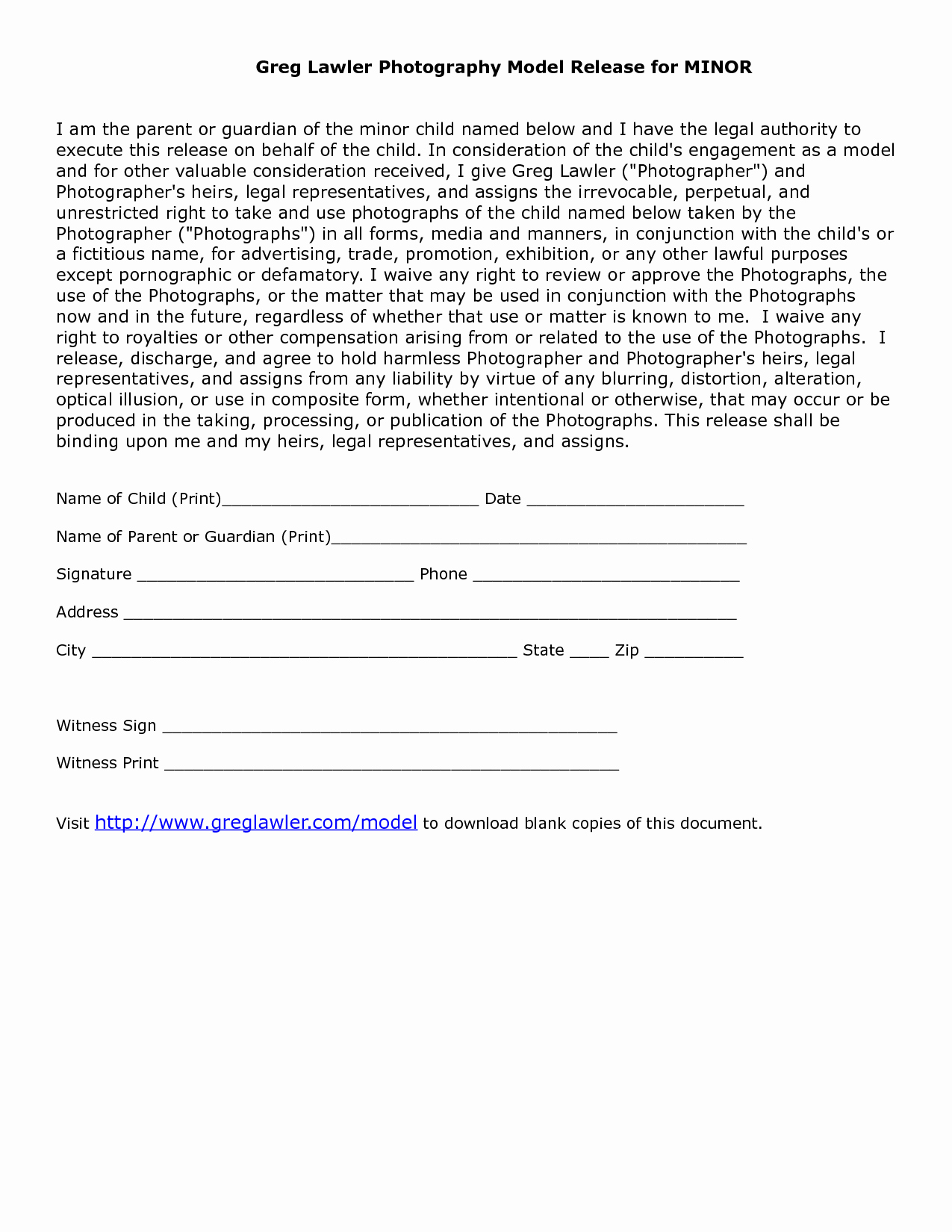 Photo Release form Template Fresh Minor Model Release form Template Link is Broken but Use