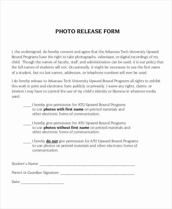 Photo Release form Template Unique Release form Template 9 Free Pdf Documents