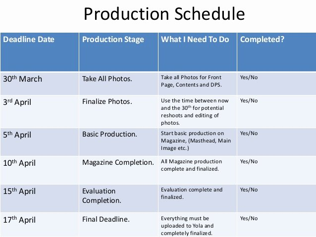 Photo Shoot Schedule Template Awesome Production & Photoshoot Schedule Corey Keepence