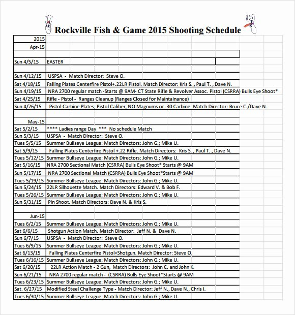 Photo Shoot Schedule Template Best Of Sample Shooting Schedule 12 Documents In Pdf Word Excel