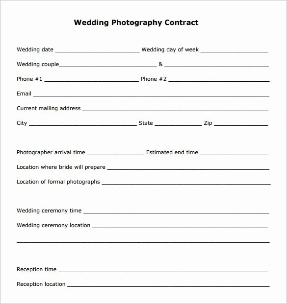 Photography Contract Template Pdf Beautiful Graphy Contract Template – 10 Free Word Pdf