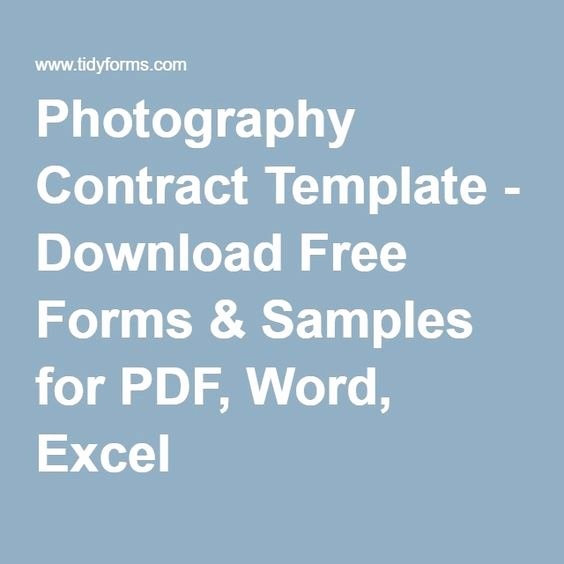 Photography Contract Template Pdf Beautiful Graphy Contract Template Download Free forms