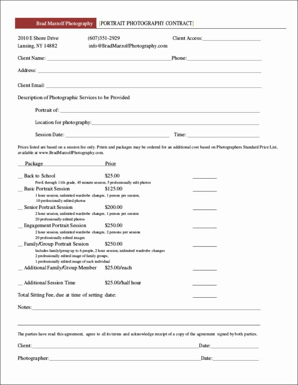 Photography Contract Template Pdf Elegant 23 Graphy Contract Templates and Samples In Pdf