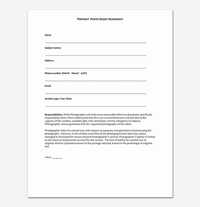 Photography Contract Template Pdf Fresh Graphy Contract Template 40 Free In Word Pdf