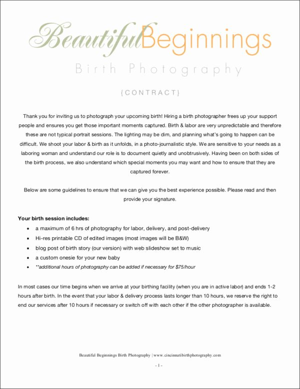 Photography Contract Template Pdf Luxury 34 Contract Samples & Templates In Pdf