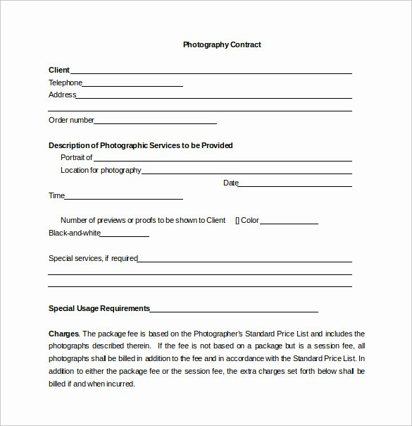 Photography Contract Template Pdf Luxury Portrait Graphy Contract – Emmamcintyrephotography