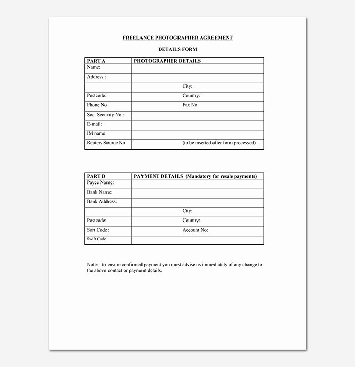 Photography Contract Template Pdf New Graphy Contract Template 40 Free In Word Pdf