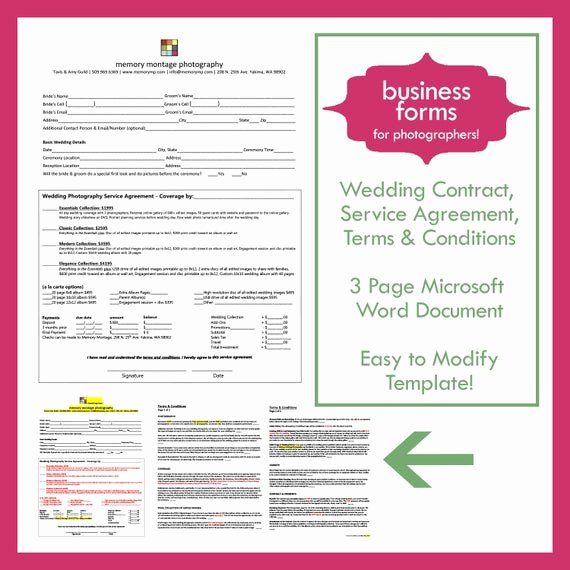 Photography Contract Template Word Awesome Wedding Graphy Contract Template Business form for