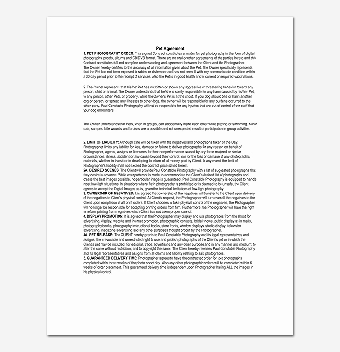 Photography Contract Template Word Best Of Graphy Contract Template 40 Free In Word Pdf