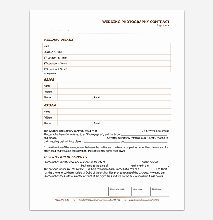 Photography Contract Template Word Lovely Graphy Contract Template 40 Free In Word Pdf