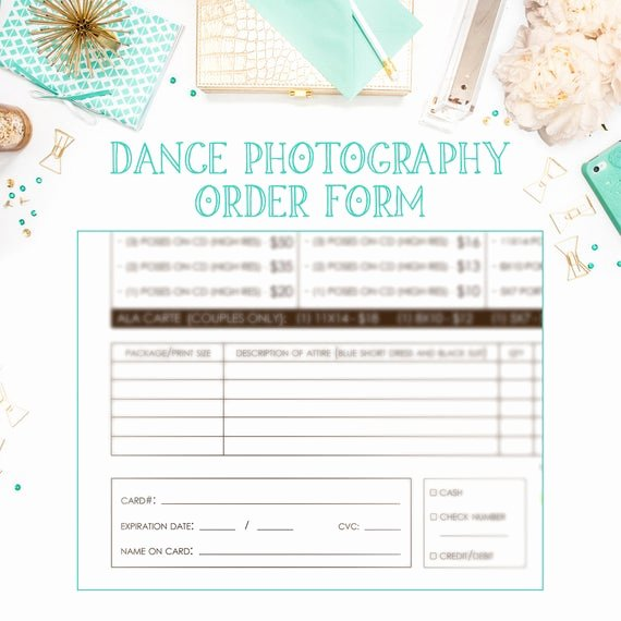 Photography order form Template Beautiful School Dance Dance Team Graphy order form Template