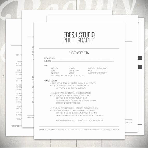 Photography order form Template Free Inspirational Graphy forms 5 Essential Contracts by