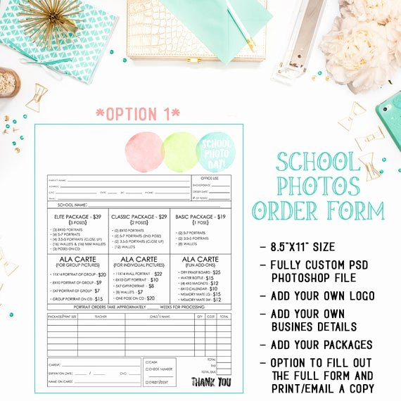 Photography order form Template Free Unique School Preschool Daycare Graphy order form Template