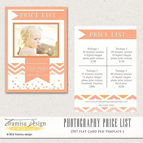 Photography Price List Template Word Awesome Graphy Price List Graphy Pricing Guide Price
