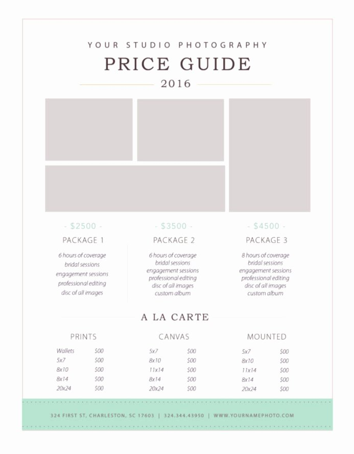 Photography Price List Template Word Awesome Graphy Price List Template — by Stephanie Design