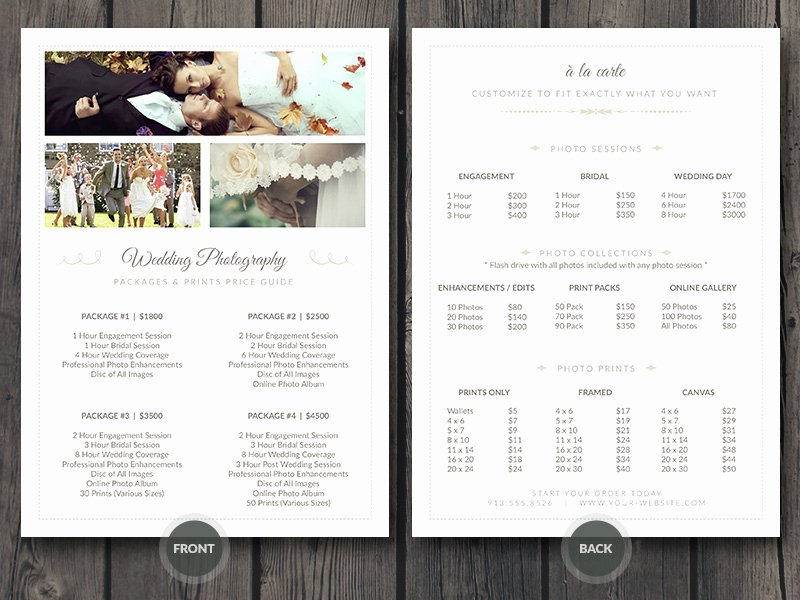 Photography Price List Template Word Best Of Free Grapher Business Card Shop Template V1