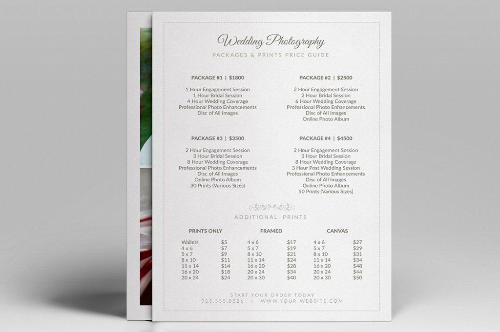 Photography Price List Template Word Elegant Modern Graphy Price List Template Deals