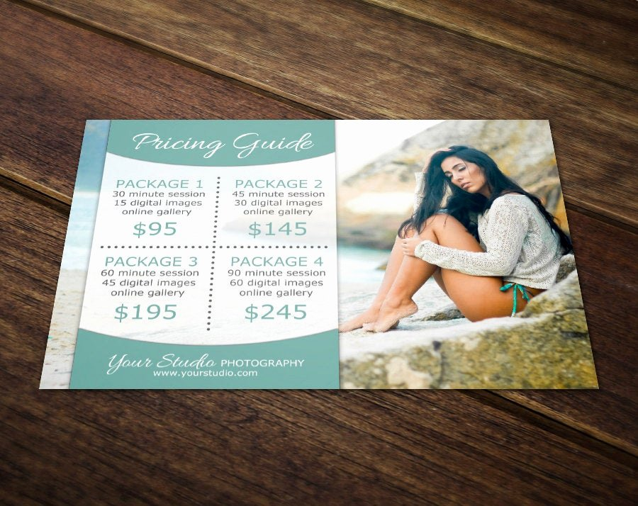 Photography Price List Template Word Fresh Graphy Price List Template Graphy Pricing Template