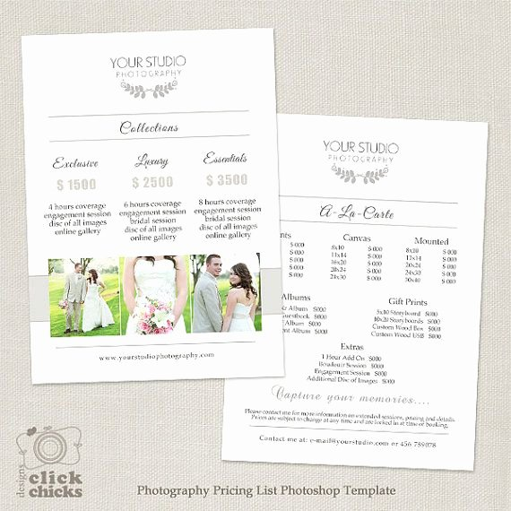 Photography Price List Template Word Lovely 185 Best Marketing Shop Templates for Graphers