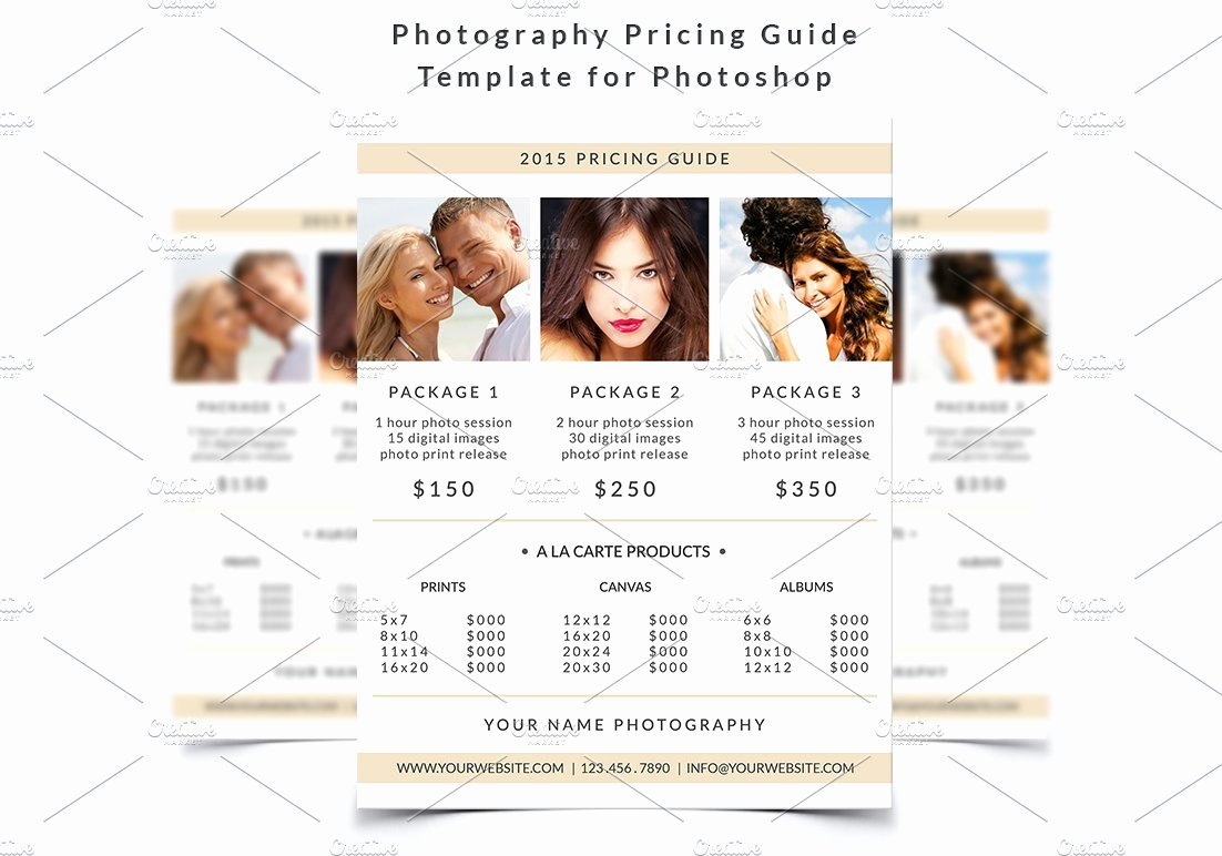 Photography Price List Template Word Lovely Graphy Pricing Guide Template Flyer Templates