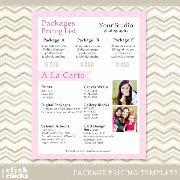 Photography Price List Template Word New Graphy Pricing List Template 13