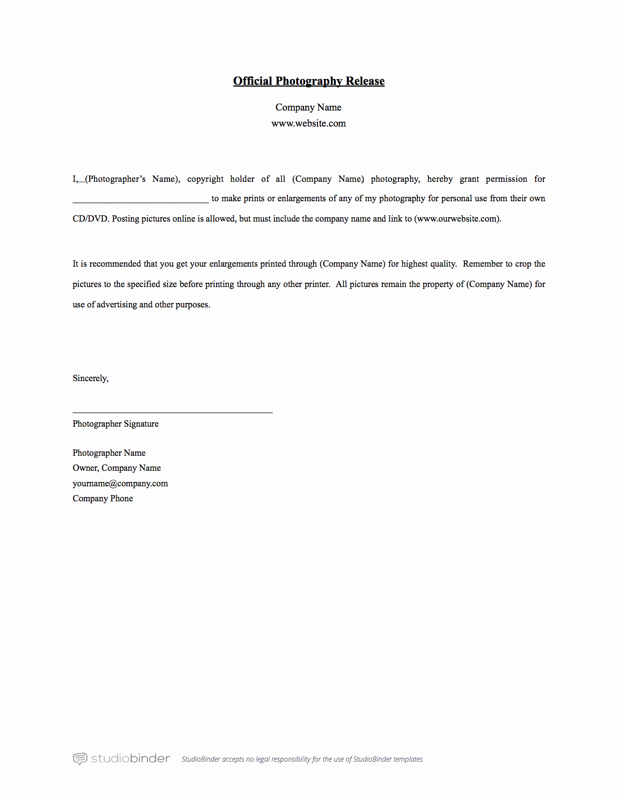 Photography Print Release form Template Beautiful why You Should Have A Release form Template