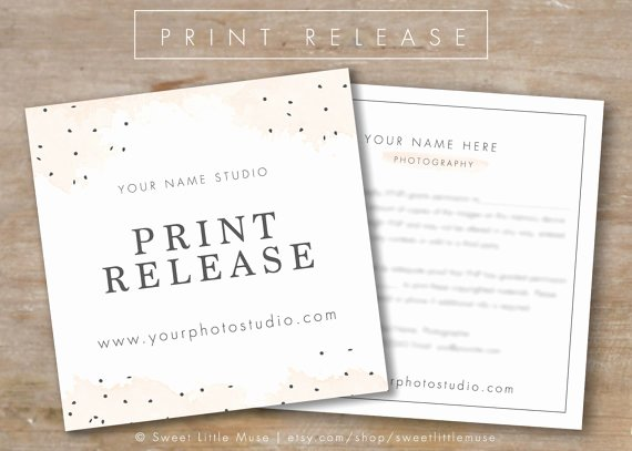 Photography Print Release form Template Fresh Graphy Print Release Template Graphy form Template