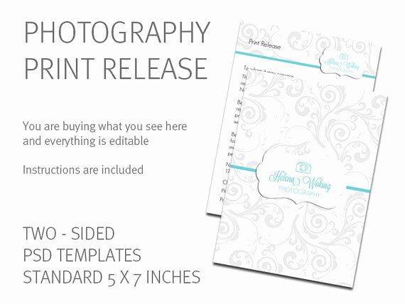 Photography Print Release form Template Inspirational Release form Template Deals for Your Studio