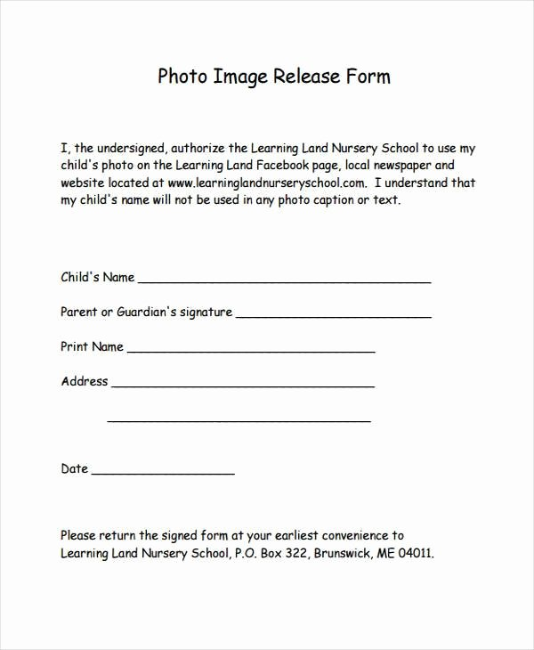 Photography Print Release form Template Luxury 8 Image Release form Samples Free Sample Example