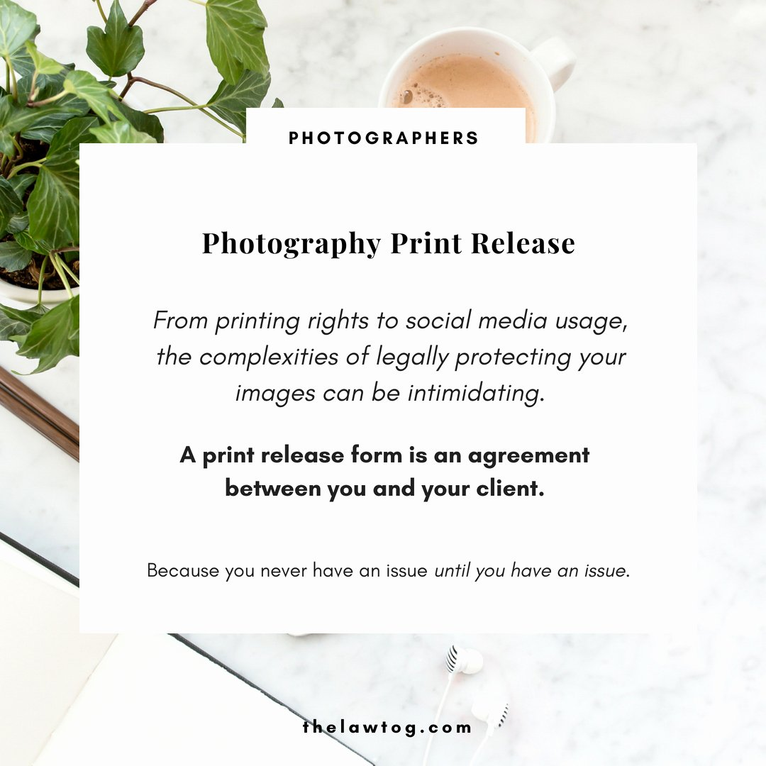 Photography Print Release form Template Unique Photo Release Template