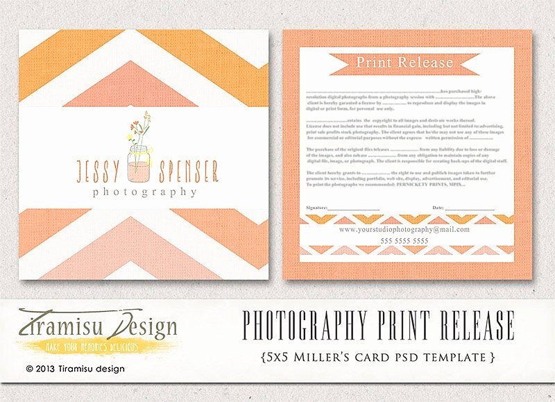 Photography Print Release Template Beautiful Graphy Print Release 5x5 Template Instant Download