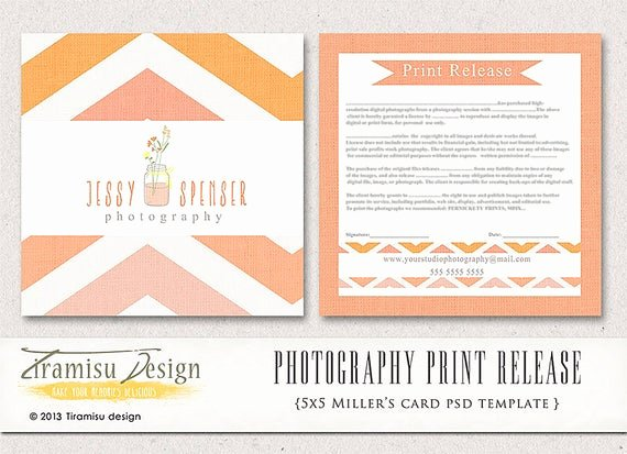 Photography Print Release Template Fresh Graphy Print Release 5x5 Template Instant Download