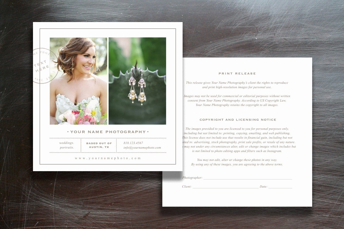 Photography Print Release Template Inspirational Grapher Print Release Template Shop Marketing