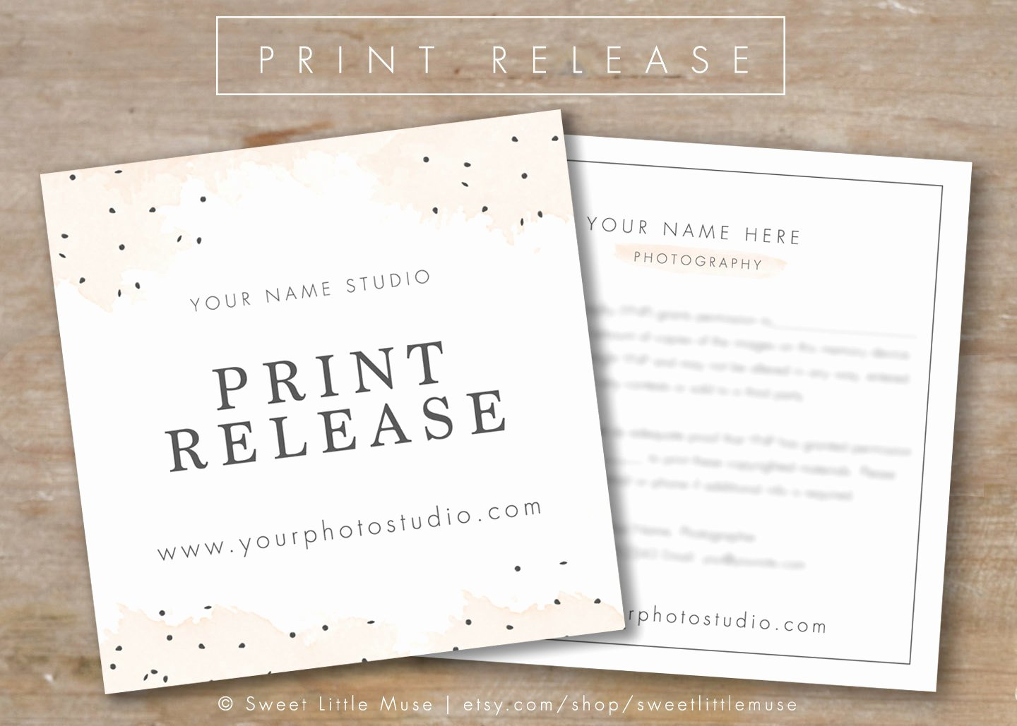 Photography Print Release Template Unique Graphy Print Release Template Graphy form Template
