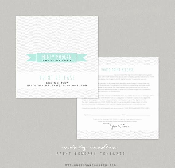 Photography Print Release Template Unique Print Release Graphy Template Modern Minty by Summit