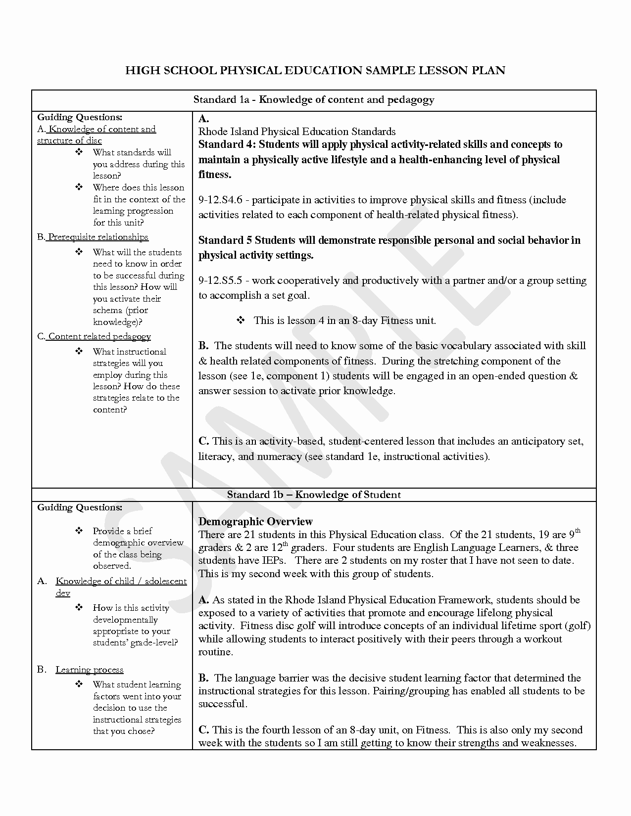 Physical Education Lesson Plan Template Best Of Pe Lesson Plan Template Blank – Blank toddler Lesson Plan