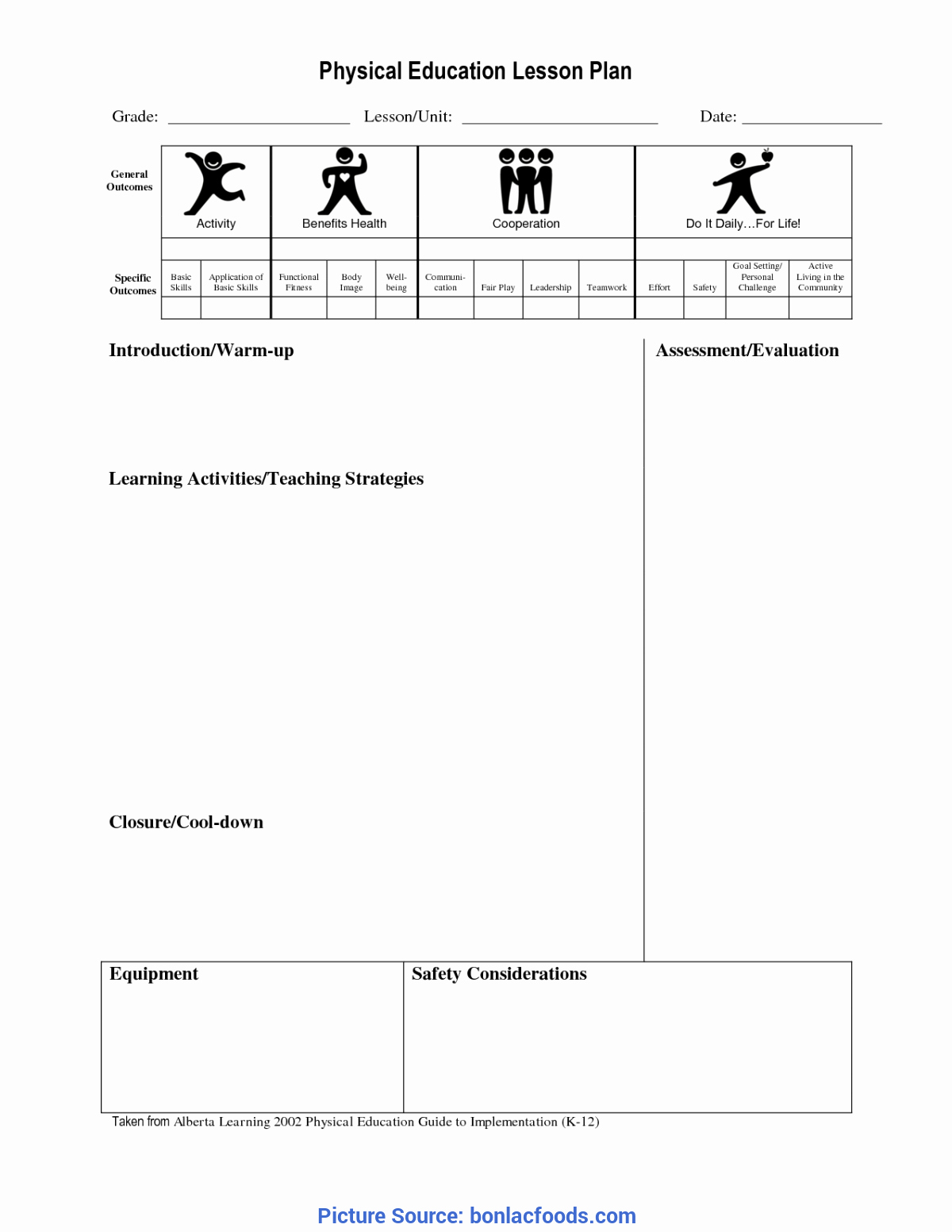 Physical Education Lesson Plan Template Inspirational Good Lesson Plan Science Year 4 Investigation States