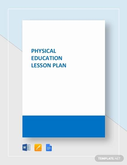 Physical Education Lesson Plan Template Lovely Sample Physical Education Lesson Plan 14 Examples In