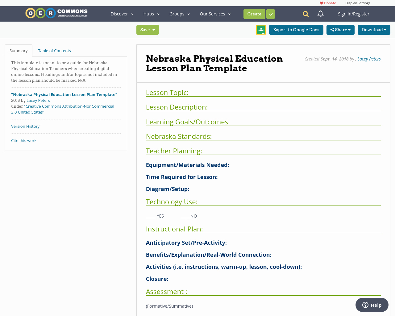 Physical Education Lesson Plans Template Fresh Nebraska Physical Education Lesson Plan Template