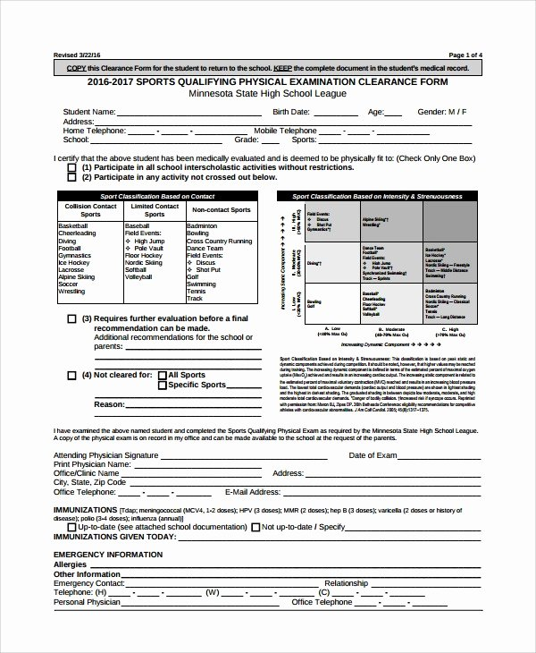 Physical Exam form Template Luxury Physical Exam Template