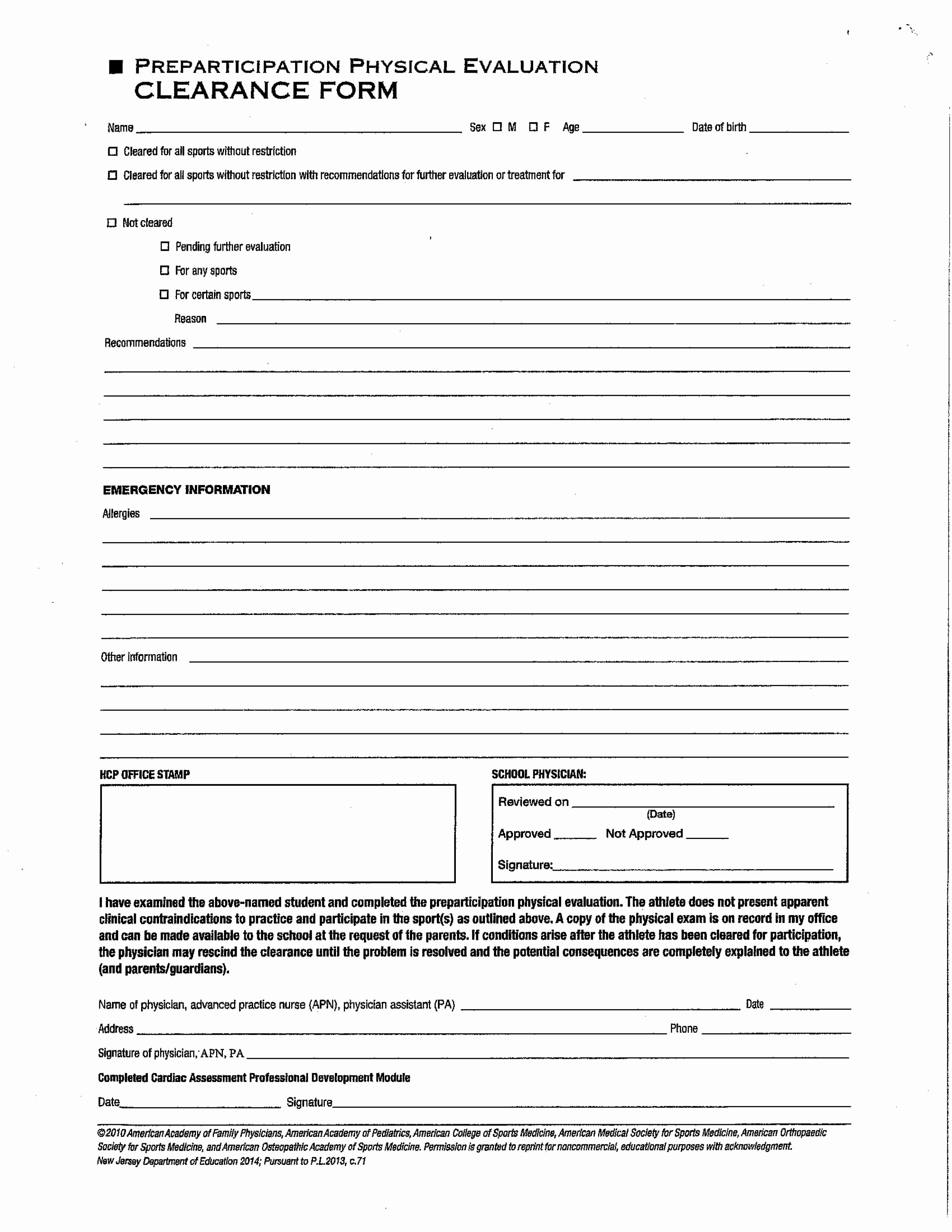 Physical Examination form Template Best Of Clearance and Physical Examination forms – Elysian Charter