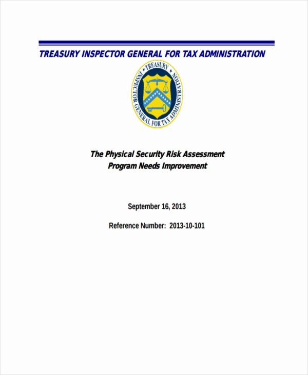 Physical Security Risk assessment Template New 37 Risk assessment Templates