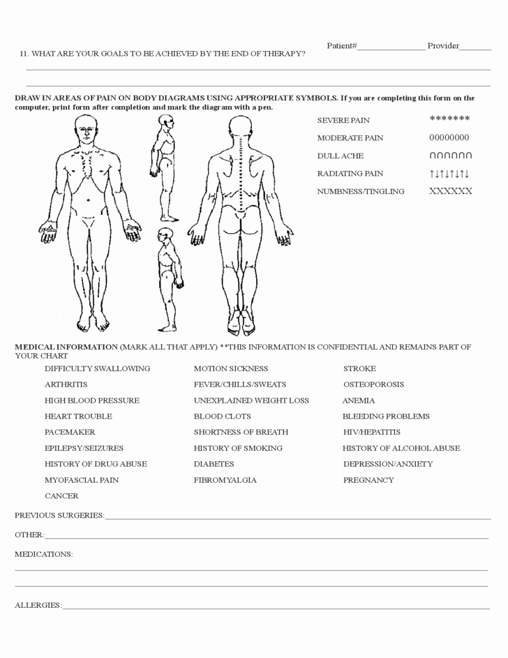 Physical therapy Evaluation Template Lovely Physical therapy Evaluation form Sample Free Download