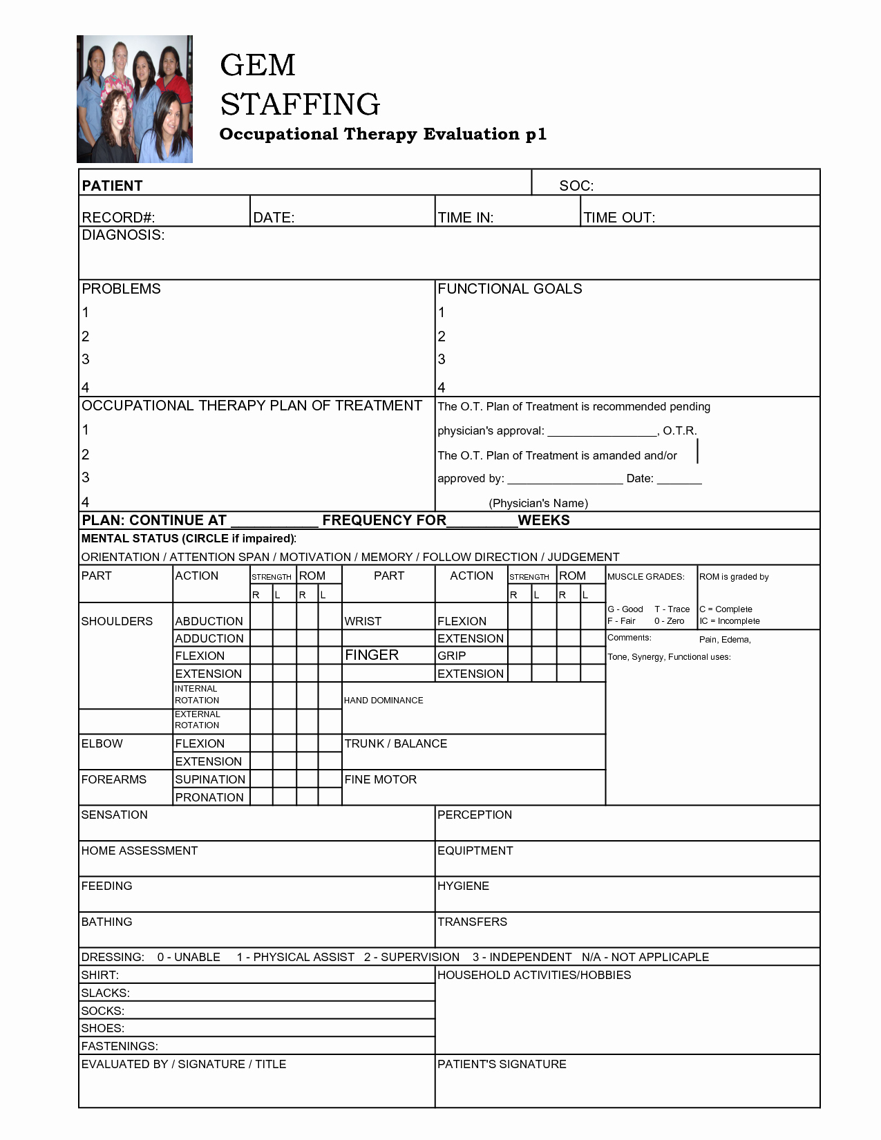 Physical therapy Evaluation Template Unique Best S Of Pt Initial Evaluation Samples Sheet