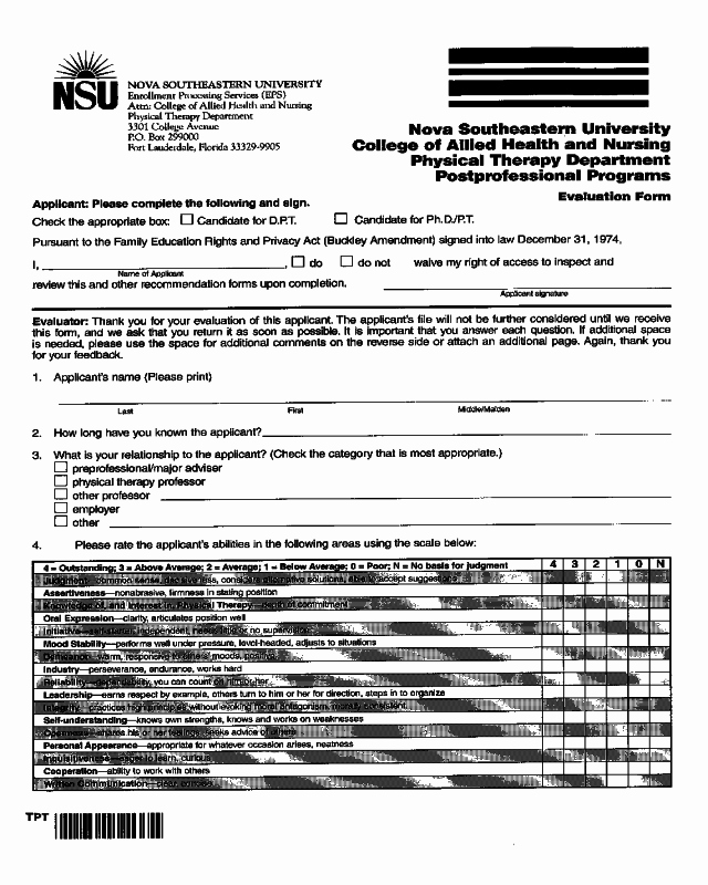 Physical therapy Evaluation Templates New 2019 Physical therapy Evaluation form Fillable
