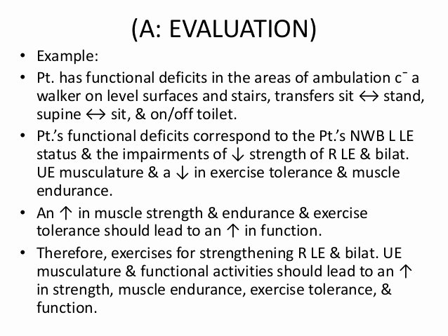 Physical therapy Initial Evaluation Template Best Of Documenting the Evaluation A