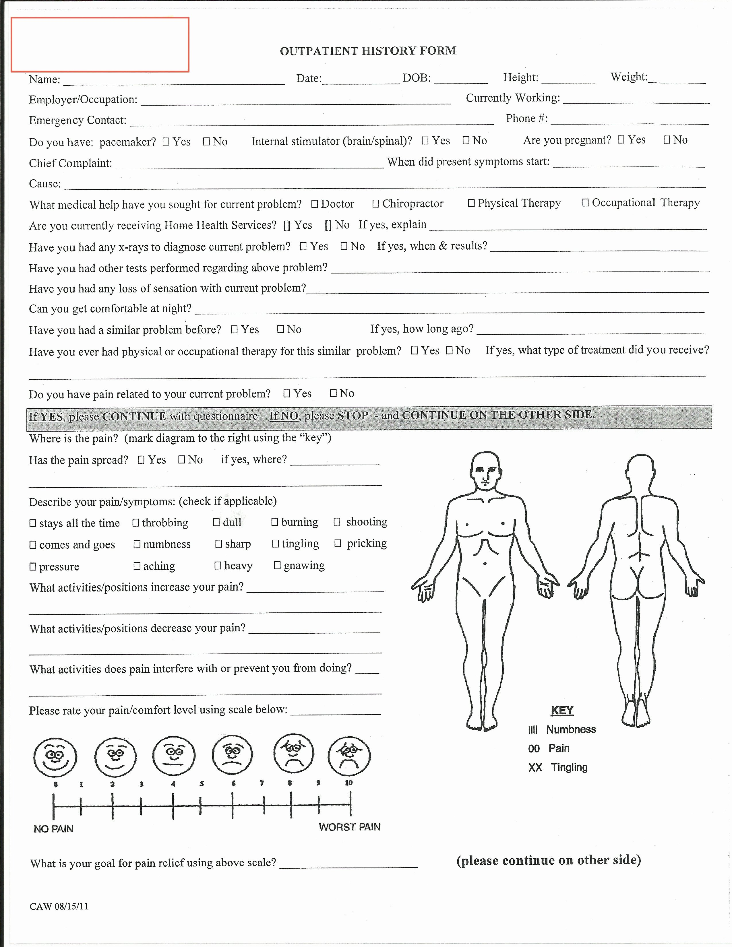Physical therapy Initial Evaluation Template Best Of Evaluation Physical therapy Evaluation form Physical