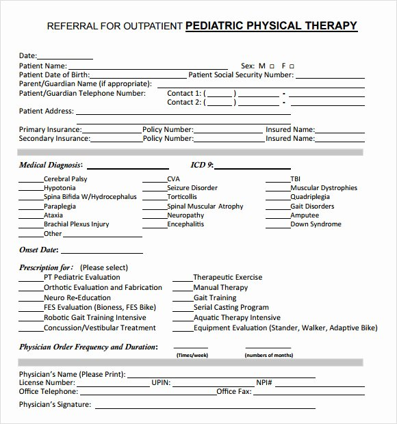 Physical therapy Initial Evaluation Template Best Of Free 7 Sample Physical therapy Evaluations In Examples